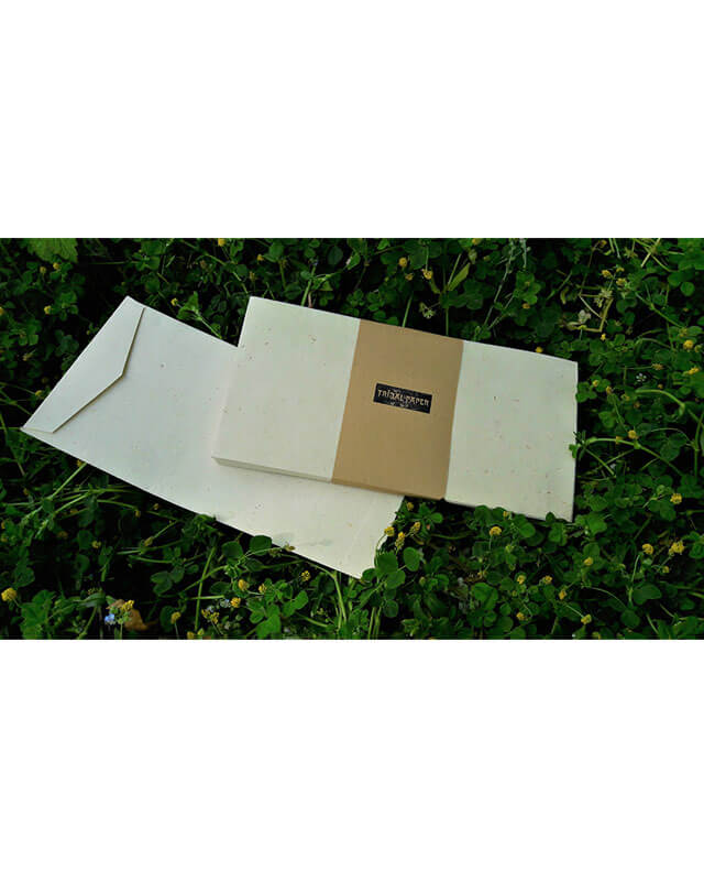 Handmade Hemp Envelopes, DL size, 12x
