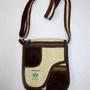 Pure-Hemp - Shoulder Bag With Suede