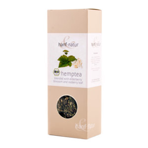 Hemp Tea Blend with Elderberry Blossoms and Rasberry Leaves